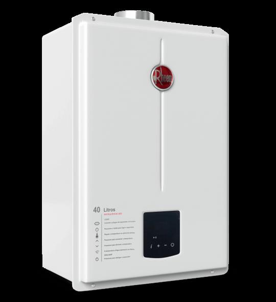 aquecedor de passagem digital 40 litros - Aquecedor Digital 39,5 Litros GN e 40 Litros GLP